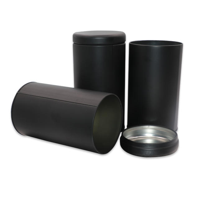 Fob Price High Quality Material Tinplate Factory Supplier Round Shape Metal Tea Black Tin Can