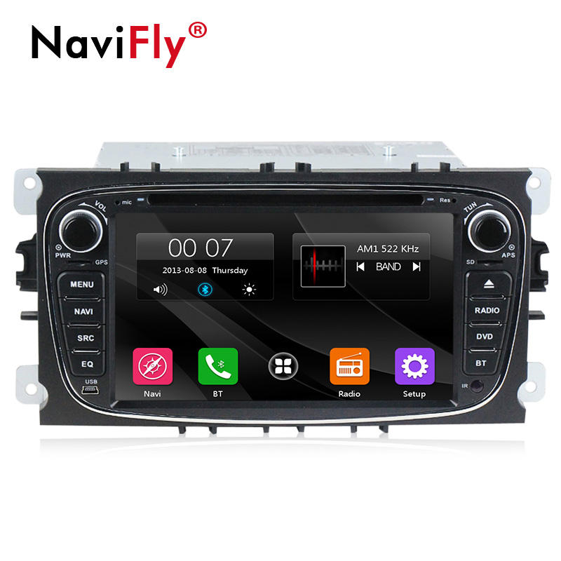 "NaviFly 7 ""WINCE 6.0 2 din GPS NAVI Auto <span class=keywords><strong>DVD</strong></span>-Player Für Ford Focus Fusion Galaxy Kuga Mondeo S-Max Fiesta C-Max Connect Fiesta"