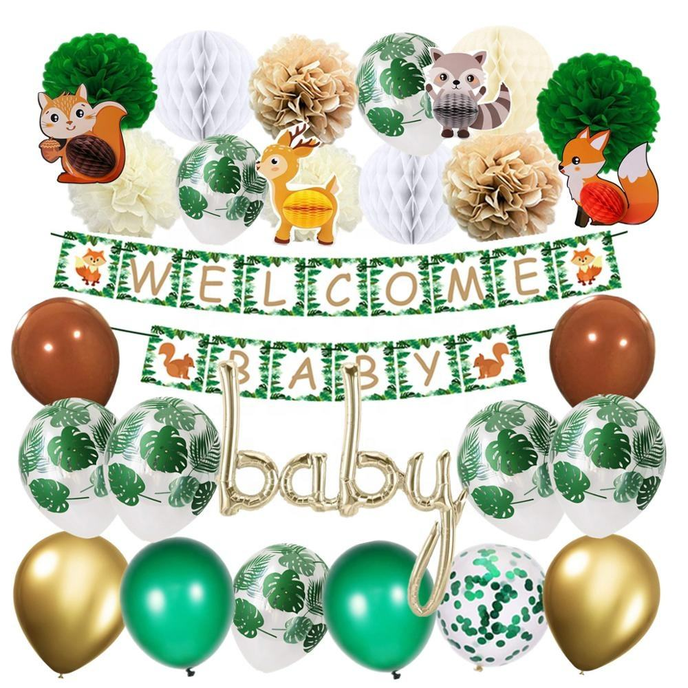 Dinosaur Party Supplies 31Pcs Hanging Ornaments Set Swirl Decoration Kit /& Happy
