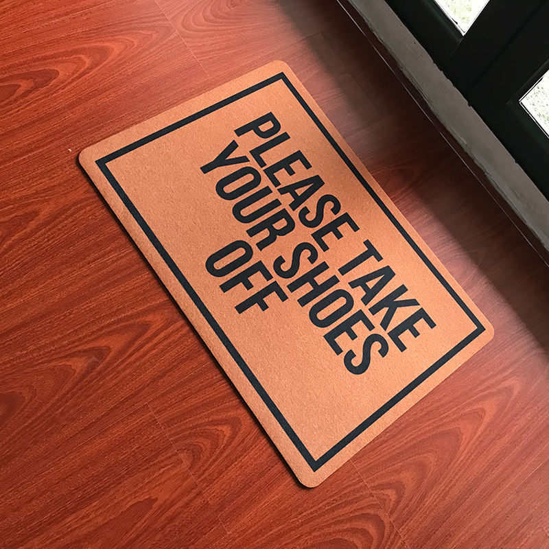 Funny Custom Doormat Welcome carpet on the floor kitchen rug bedroom floor mat in hallway Please Take Your Shoes Off