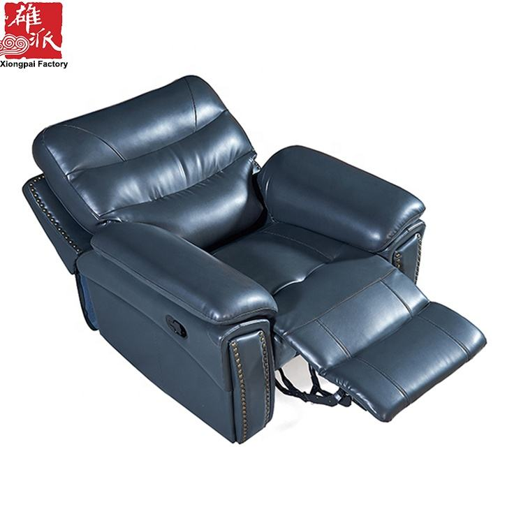 2019 New Design Leather Sectional Electric or Manual Recliner Sofa
