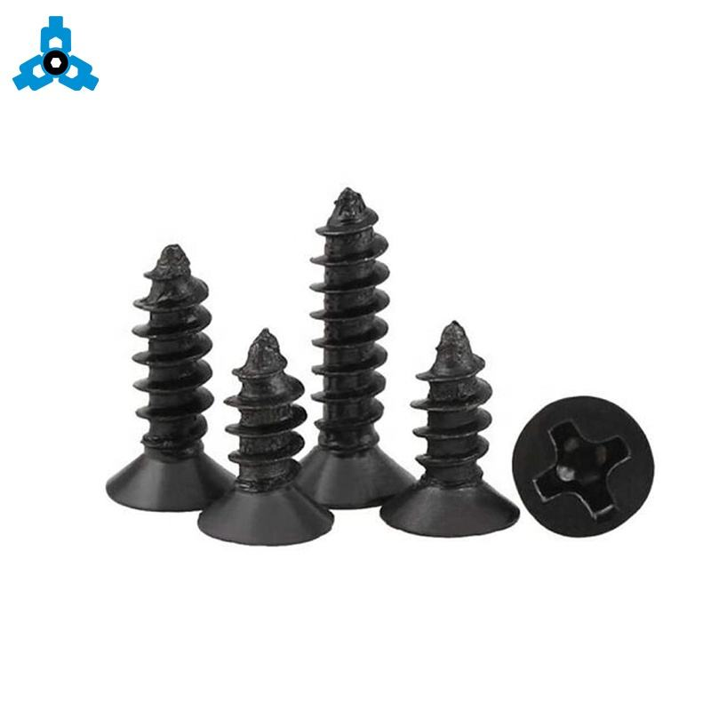China Wholesale Black Flat Head Screw 304 Stainless Steel Phillips Cross Recessed Machine Countersunk Head Screw M2 M3 DIN965