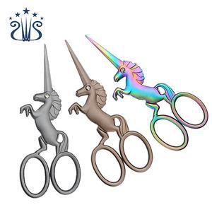 Stainless Steel Retro Scissors Creative Horse Unicorn Shape Embroidery Vintage Scissors
