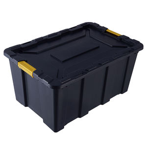 High Quality New Design 100L Stackable Heavy Duty Tub Black Plastic Storage Box