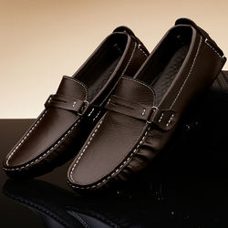 Genuine Leather Wholesale  soft driving shoes men loafers me