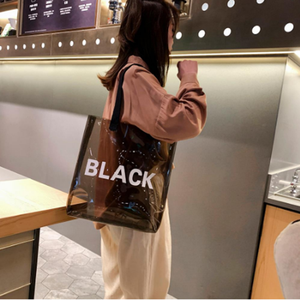 Wholesale Holographic Transparent PVC Jelly Shopping Bag Shoulder Travel Handbags