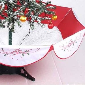 led falling snowing christmas tree with umbrella base