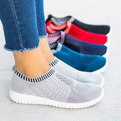 Women Athletic Walking Casual Mesh Comfortable cheap footwear flat sports shoes fashion sneakers for ladies