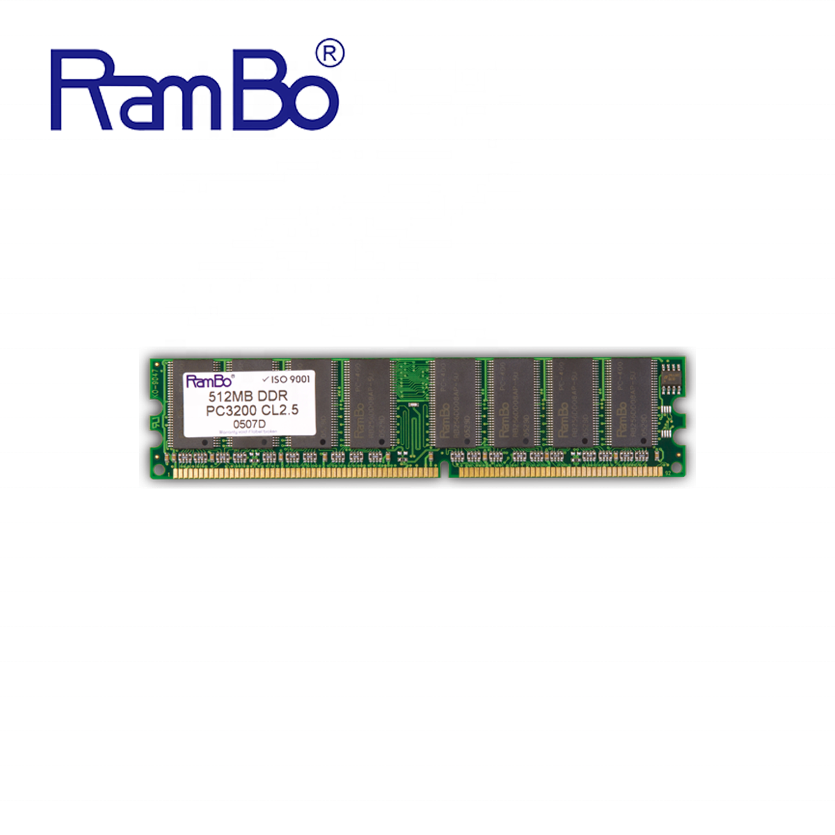 RamBo Memory Modules long dimm DDR 400mhz PC3200 CL2.5 8chips 512MB desktop ram