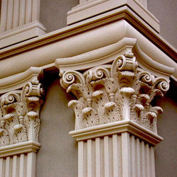 Factory sales high quality durable outdoor large decorative grc decorative corinthian roman column capital