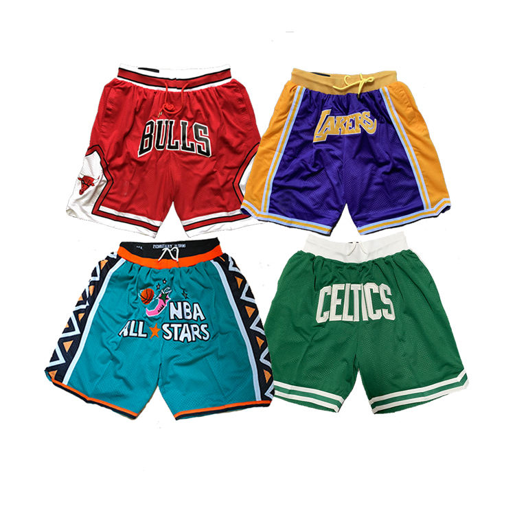 Embroidered men bryant Jordan bulls team jersey custom mesh all star short Basketball Shorts