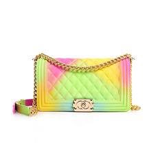 2020 Hot Selling Fashion PVC Bag Candy Color Jelly Bag Purses Handbags Women