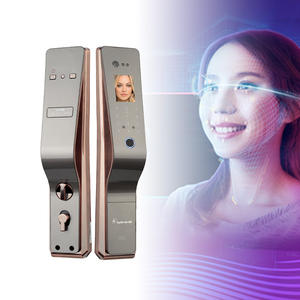 New password touch screen camera smart face recognition automatic door lock