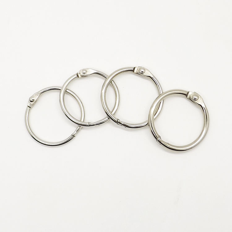 YIWANG Hot Sale Silver Open Ring Metal 1 Inch Loose Leaf Book Ring