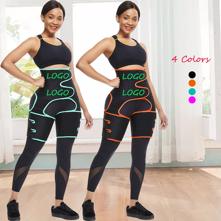 New Arrival Magic Black Neoprene Waist Trainer belt Comfortable Thigh Shaper High Waist Slim