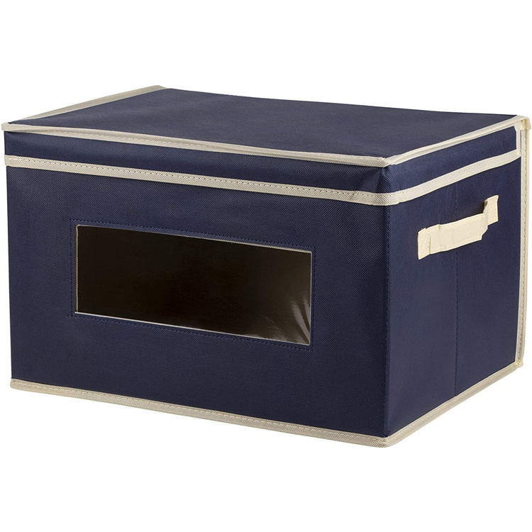 Custom new small canvas black Storage Boxes Cardboard decorative storage boxes with lids cardboard
