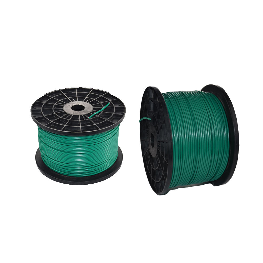 Green yellow earth grounding cable electrical boundary wire with HDPE sheath signal cable
