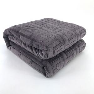New design polyester jacquard blanket, 3D embossed throw blanket/