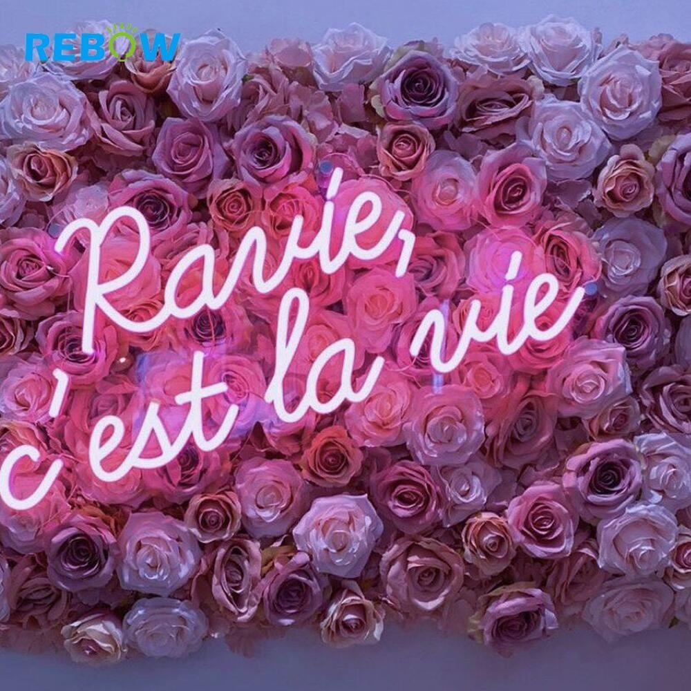 Letras palabras Led Neon Sign OEM irrompible alta calidad led neon sign