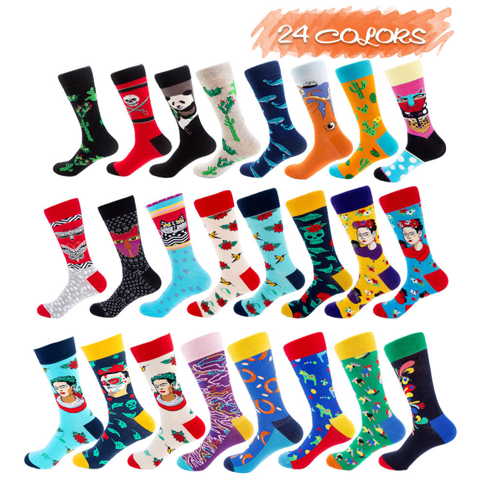 Yueli 24 designs business work men women socks