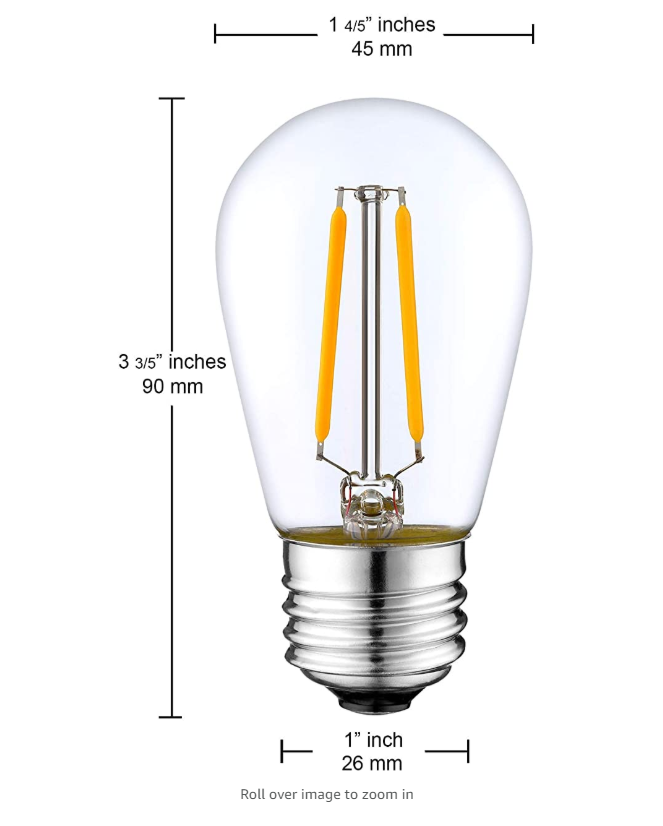 cheap s14 led bulb filament lamp e26 e27 led decoration light led dimmable bulbs from China manufacturer
