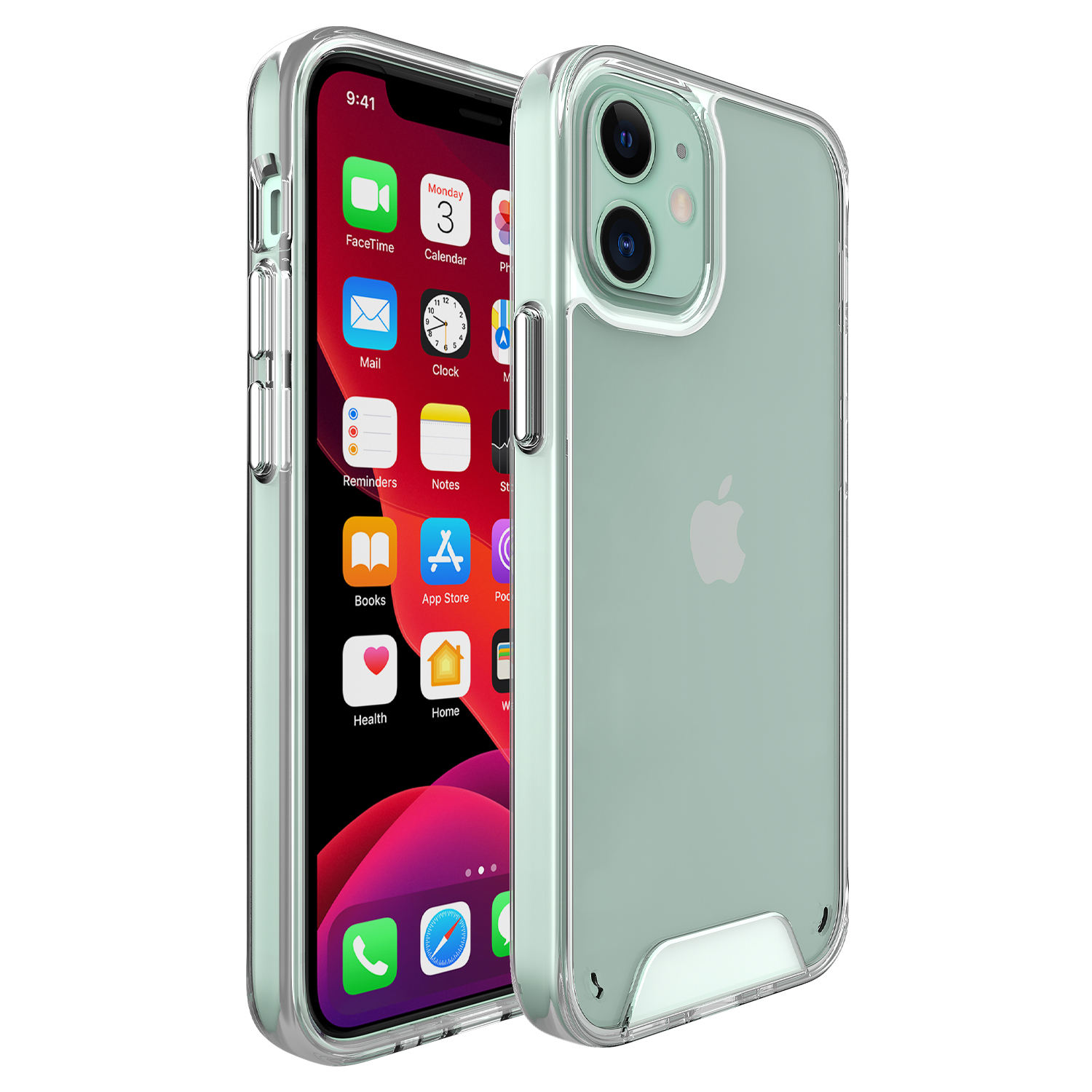 for iphone 12 mini 12 pro max mobile phone cases Plating tpu space clear case for iphone 12