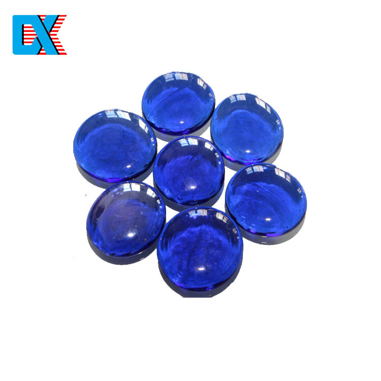 Colored decorative glass gems for vase filler