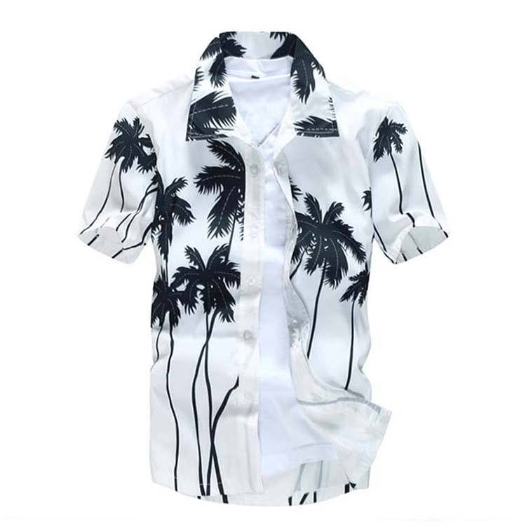 High Quality Sublimation New Style Pant Shirt Men Wholesale Hawaiian Casual Floral Aloha Shirt