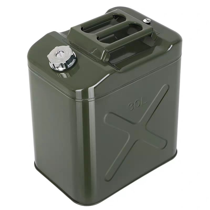 Metal Military Standard Army Green Jerrycan 10 20L 30 litre 40 L 50 60lts Gasoline Diesel Oil Fuel Tank Gas Petrol Jerry Can