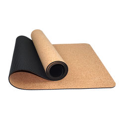 Rubber / Cork Yoga Mat Custom Eco Friendly Natural Yoga & Pi