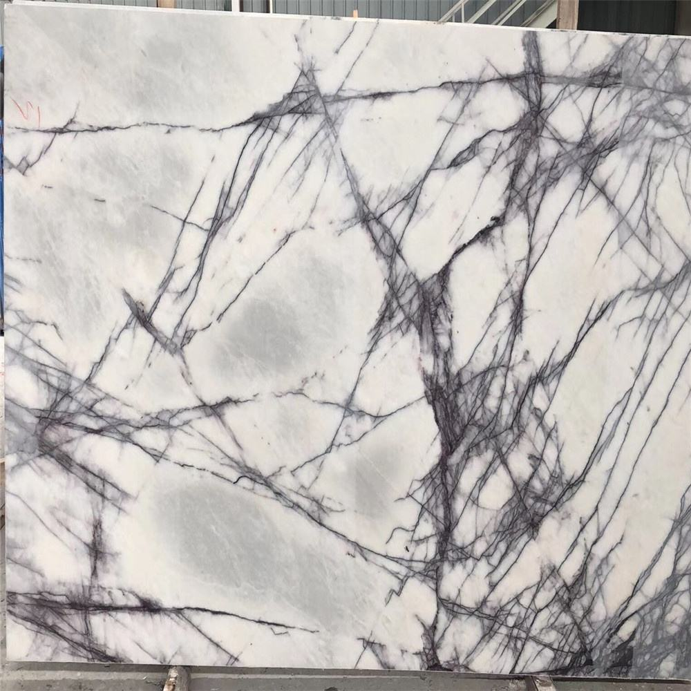 Milas lilac bianco white marble big slabs polished price for wall flooring tiles