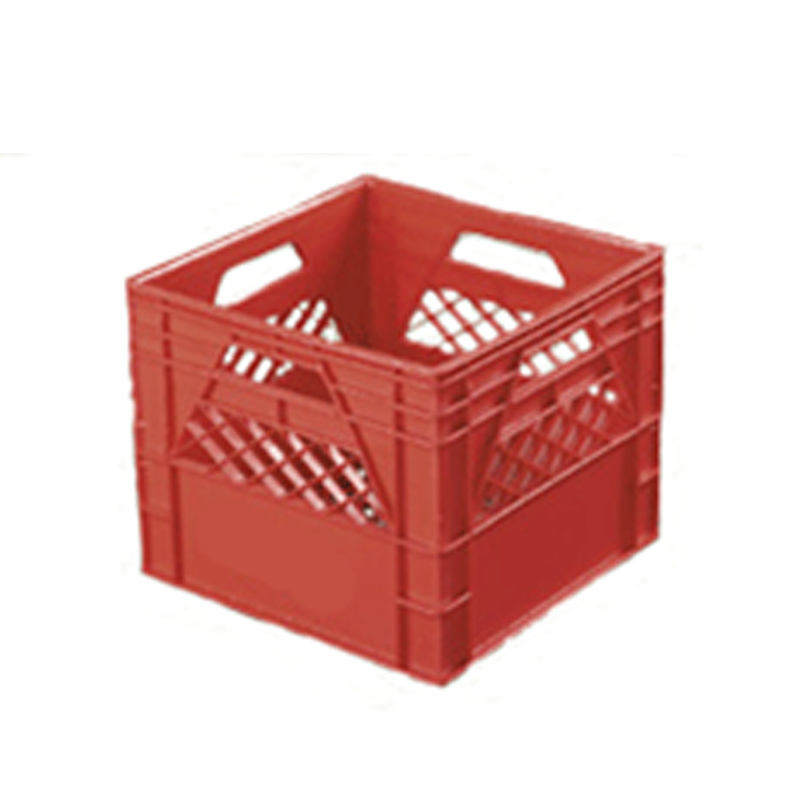 High Quality HDPE 16 Quart Red Milk Vegetable Dairy Plastic Crates