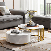 Modern multi size  marble coffee table corner table several combinations