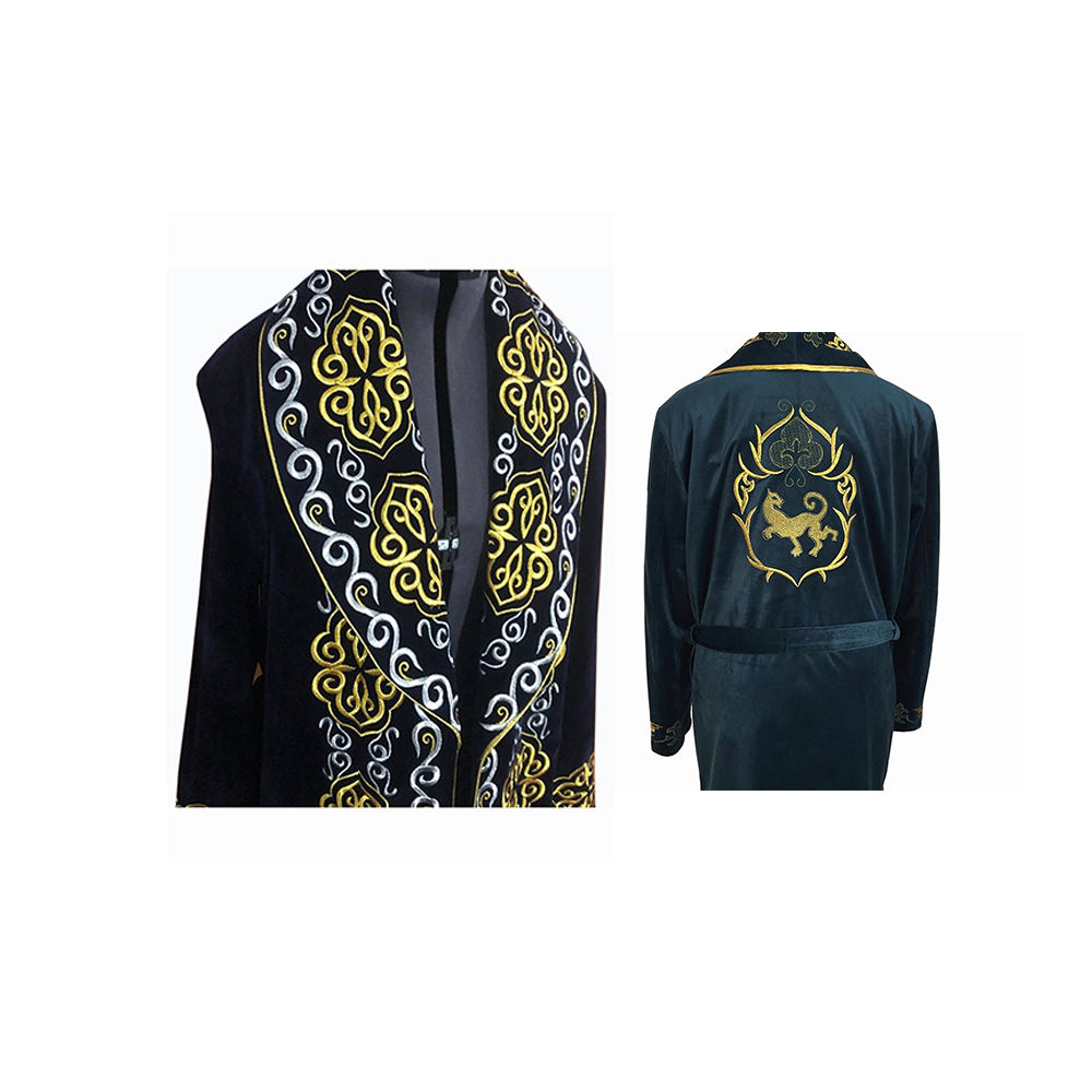 Custom Design Chapan Embroidered Men Clothing with Edging