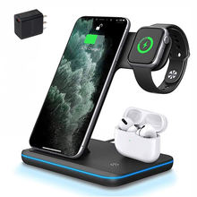 Phone Wireless Charging Station Qi 15W Magnetic 3 in 1 Wireless Charger for iPhone 12 iWatch