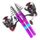 Fishing Rod and Reel Combos Carbon Fiber Telescopic Fishing Rod with Reel Combo Sea Saltwater Freshwater Kit Fishing Rod Kit