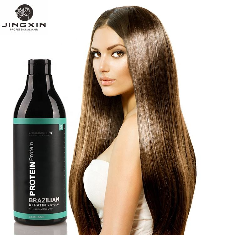 JINGXIN KERAPLUS Bio gk hair keratin treatment brazilian gold keratin natural cavair hair treatment