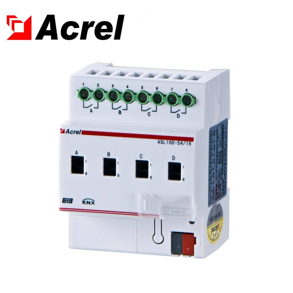 Acrel ASL100-S4/16 KNX system 4 channel switch control for smart lighting