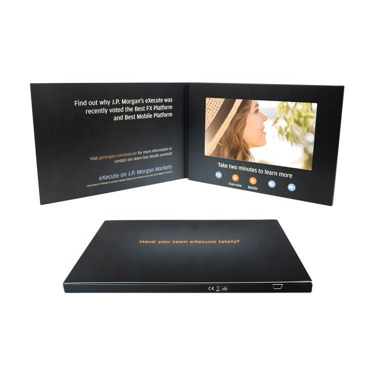 Aangepaste Corporate Creative 2.4 4.3 7 Inch Lcd Display A4 Video Brochure A5 Digitale Wenskaart Voor Merk Business Marketing