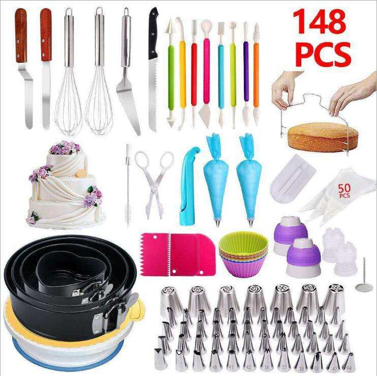 NEW Stainless steel cake pastry nozzles piping icing tips sets / cake supplies decorating tips tool