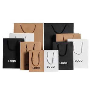 China Supplier Wholesale Custom Print Logo Cheap Recyclable Food And Shopping Gift Bag Kraft Paper Bag With Handles