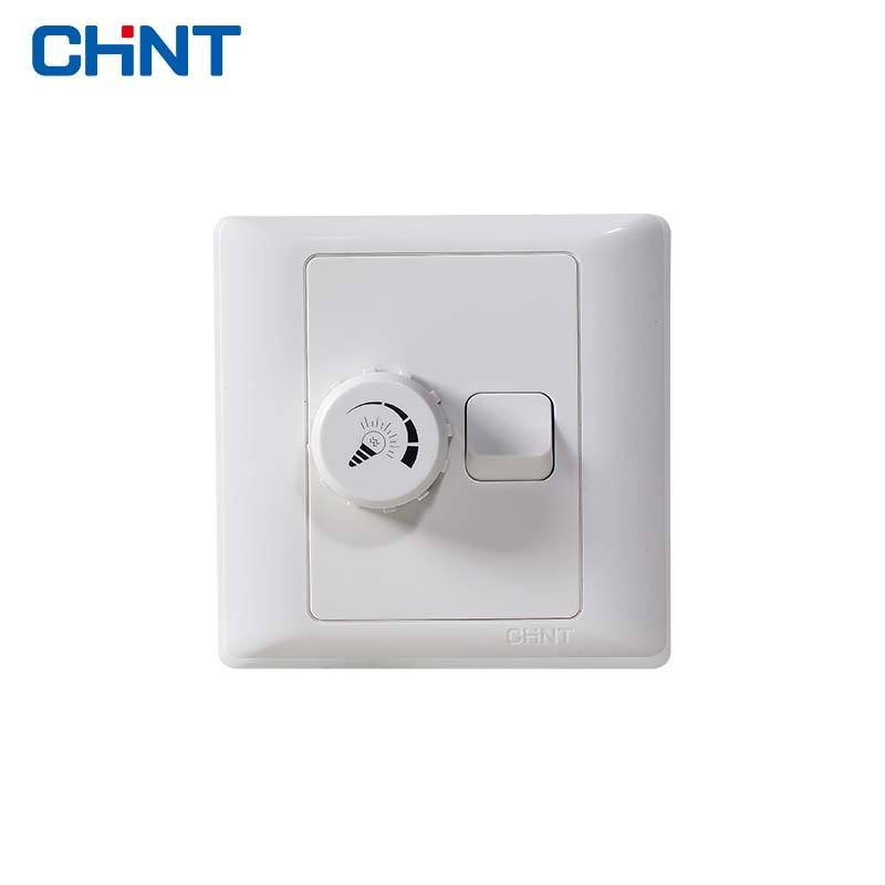 <span class=keywords><strong>Gaya</strong></span> Modern Baru 7G Series Chint 1-Gang Switch 400W Dinding Dimmer Switch