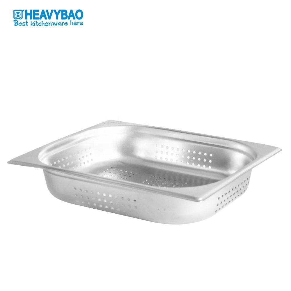 Heavybao Hotel Restaurant Equipment High Standard Stainless Steel Perforated Gn Food Pan Container