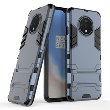 New mould shockproof hybrid armor tpu pc convenient invisible kickstand phone case for oneplus 7t cover