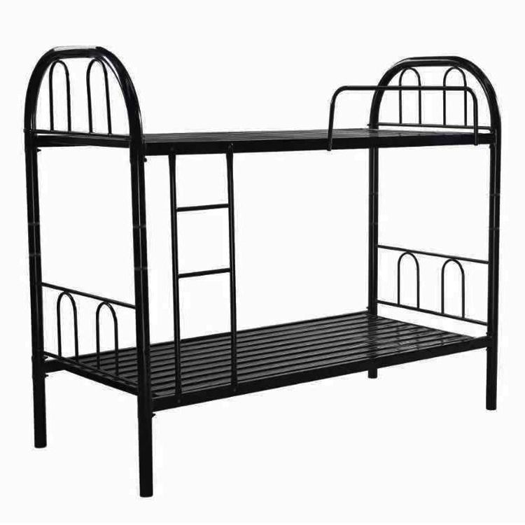 cheap dormitory prison school double Decker easy assembly metal bunk beds