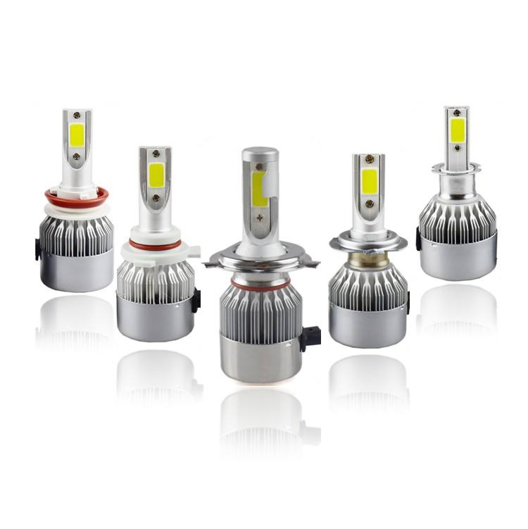 Wholesale12V 24V C6 araba Cob H7 h4 H11 9005 far 72W Led ampul 3800lm 6000K araba led farlar için ışık araba