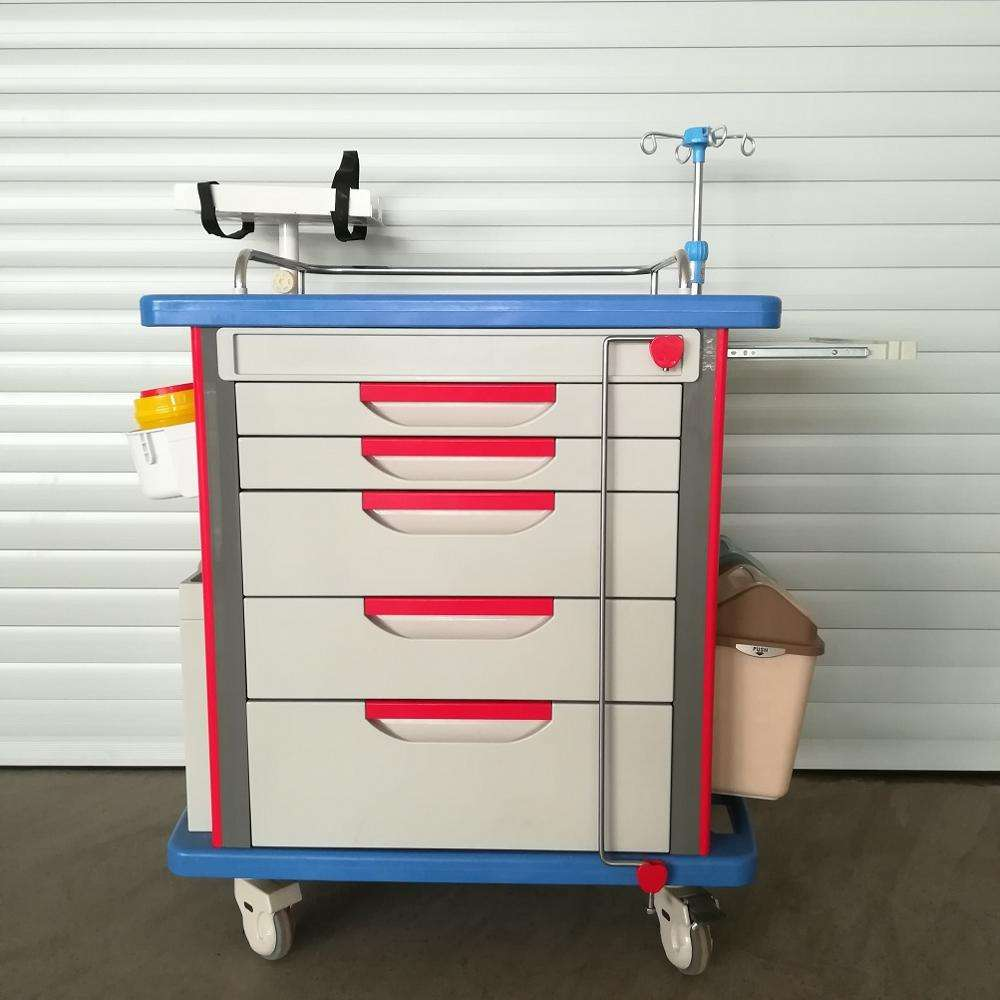 Hospital ABS Crash Cart With Plastic Lock