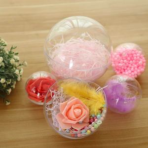 Accessories gift decoration transparent tree empty ornaments ribbon high clear plastic acrylic christmas ball