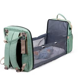 High quality waterproof Oxford cloth explosion mummy bag, mother's backpack, folding baby care bag with bed urine bag