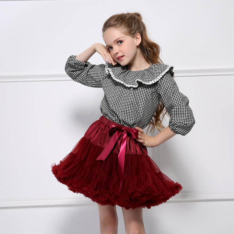 Top Quality wholesale boutique Pettiskirt Pink Fluffy Ballet Kids Baby Girls Tutu Tulle Mini Skirt With kids